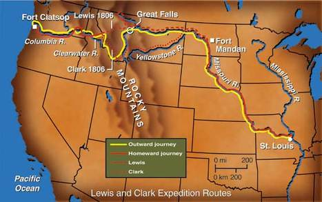 Map Of Lewis And Clark Expedition Important Findings   Impact of Lewis and Clark's Expedition